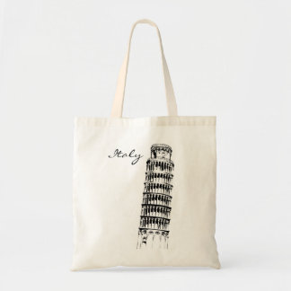 Leaning Tower of Pisa Canvas Bag