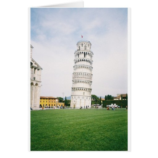 Leaning Tower of Pisa Card