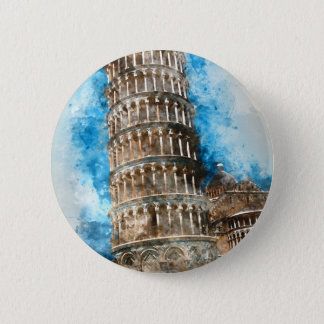 Leaning Tower of Pisa in Italy Button