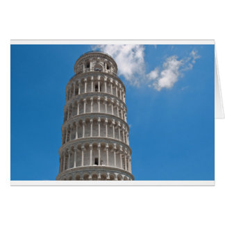 Leaning Tower of Pisa in Italy Card