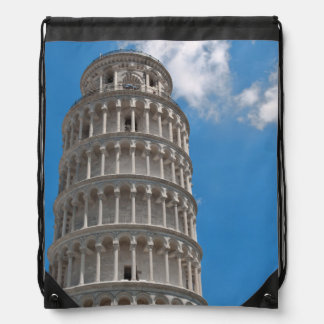 Leaning Tower of Pisa in Italy Drawstring Bag