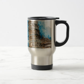 Leaning Tower of Pisa in Italy Travel Mug