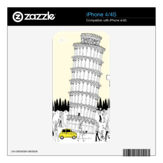 Leaning Tower of Pisa iPhone 4 Skins