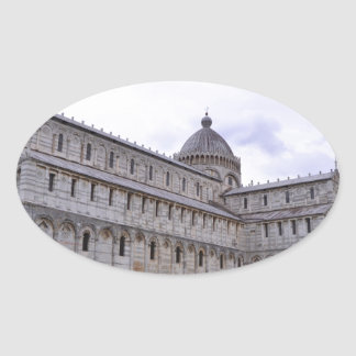 Leaning Tower of Pisa,Italy Oval Sticker