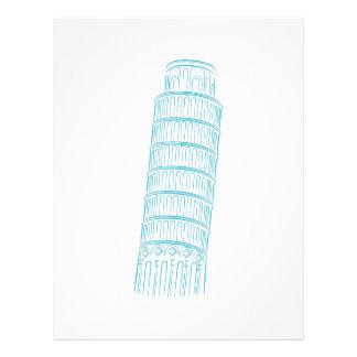 Leaning Tower of Pisa Landmark Letterhead