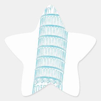 Leaning Tower of Pisa Landmark Star Sticker