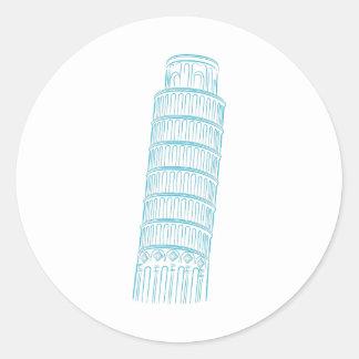 Leaning Tower of Pisa Landmark Classic Round Sticker