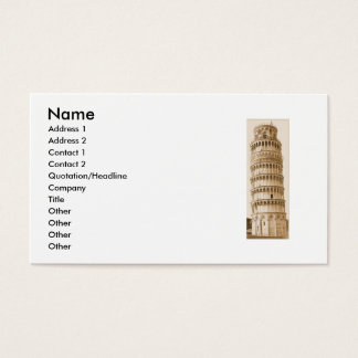 Leaning Tower of Pisa on business cards