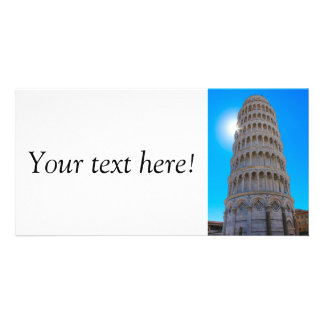 Leaning Tower of Pisa Custom Photo Card