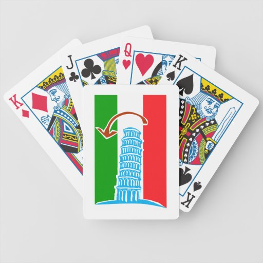 Leaning Tower of Pisa Poker Deck