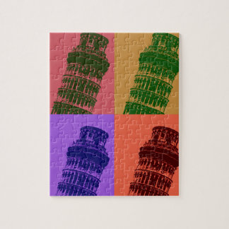 Leaning Tower of Pisa Pop Art Jigsaw Puzzle