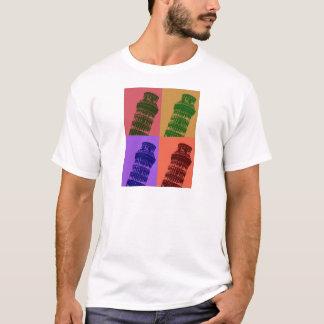 Leaning Tower of Pisa Pop Art T-Shirt