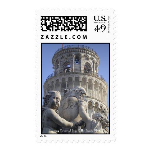 Leaning Tower of Pisa Postage Stamp