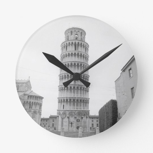 Leaning Tower of Pisa Round Clock