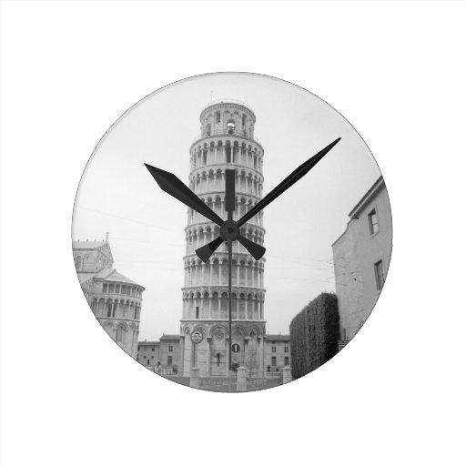 Leaning Tower of Pisa Round Clocks