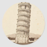 Leaning Tower of Pisa Round Stickers