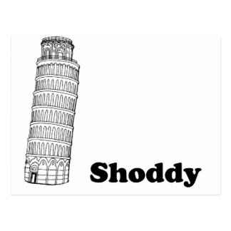 Leaning Tower of Pisa - Shoddy Postcard