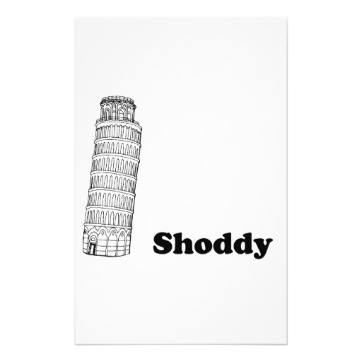 Leaning Tower of Pisa - Shoddy Personalized Stationery