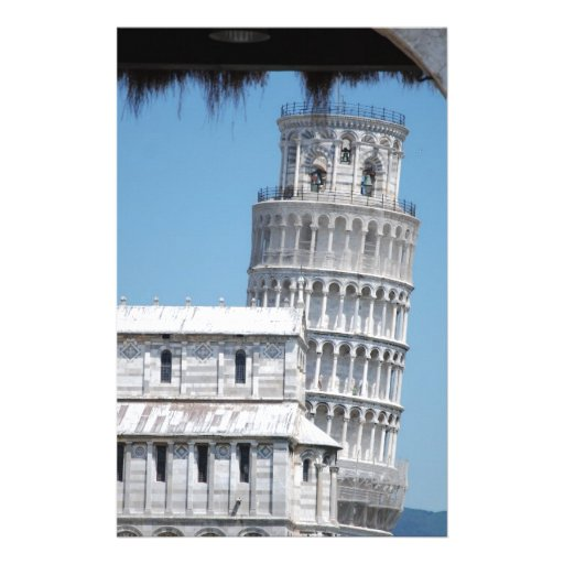 Leaning Tower of Pisa Personalized Stationery