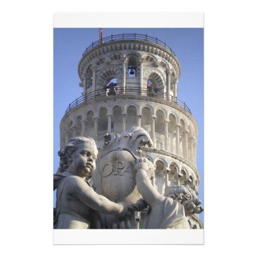 Leaning Tower of Pisa Custom Stationery