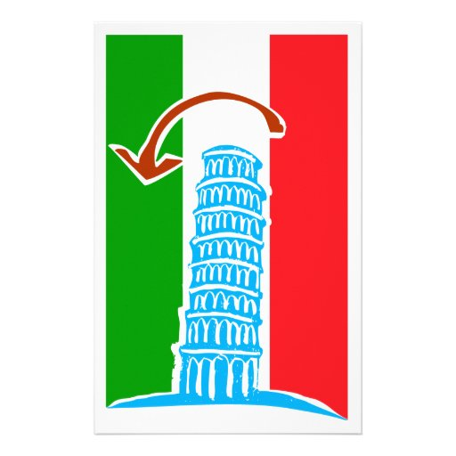 Leaning Tower of Pisa Stationery Paper