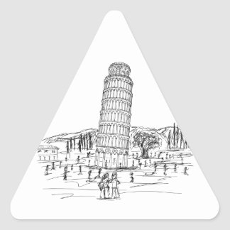 leaning tower of pisa triangle sticker