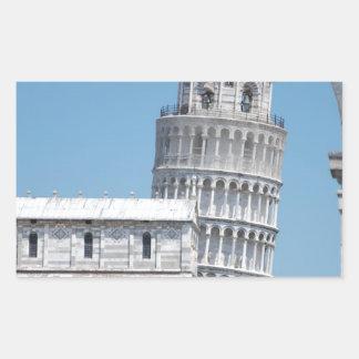 Leaning Tower of Pisa Rectangular Sticker