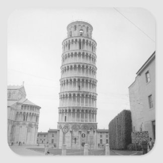 Leaning Tower of Pisa Square Sticker