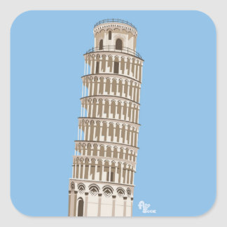 Leaning Tower of Pisa Stickers
