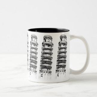 Leaning Tower of Pisa Two-Tone Coffee Mug