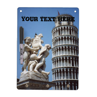 Leaning Tower of Pisa with Cherub Statue Dry Erase Board