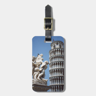 Leaning Tower of Pisa with Cherub Statue Luggage Tag