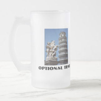 Leaning Tower of Pisa with Cherub Statue Frosted Beer Mugs