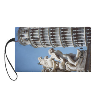 Leaning Tower of Pisa with Cherub Statue Wristlet Purse