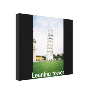Leaning Tower wrapped Canvas
