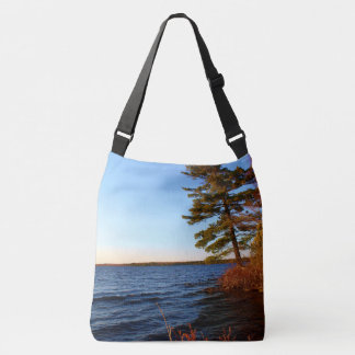Leaning Tree at Mud Pond Crossbody Bag