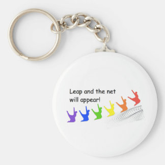 Leap and the net will appear keychain