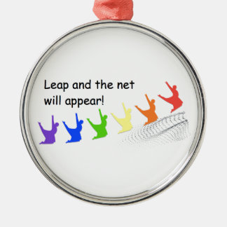 Leap and the net will appear metal ornament