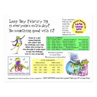 Leap Day Info To Send Postcard