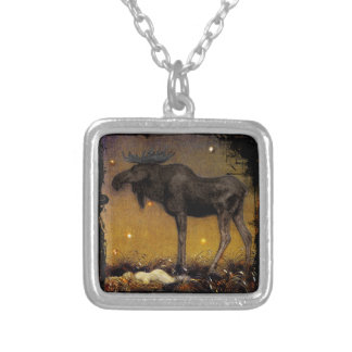 Leap Elk Princess Cotton Asleep Silver Plated Necklace