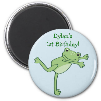 Leap Frog Froggie Birthday Favor Magnets