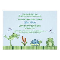 Leap Frog Froggy Baby Shower Invitations Boy
