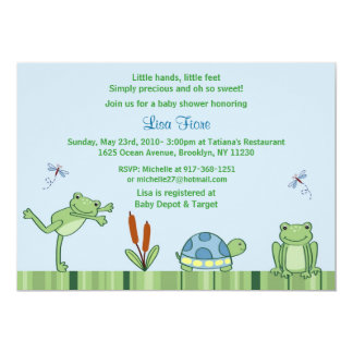 Leap Frog Froggy Custom Baby Shower Invitations