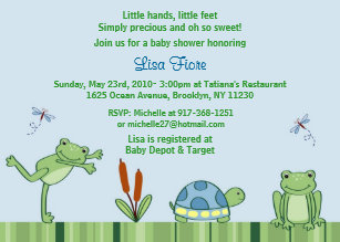 Frog baby shower invitations zazzle leap frog froggy custom baby shower invitations filmwisefo
