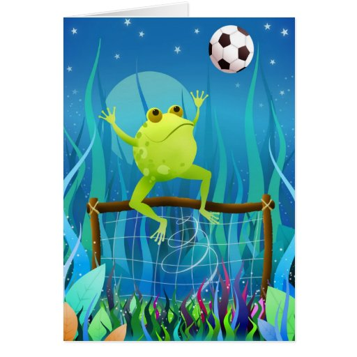 Leap frog - greeting card