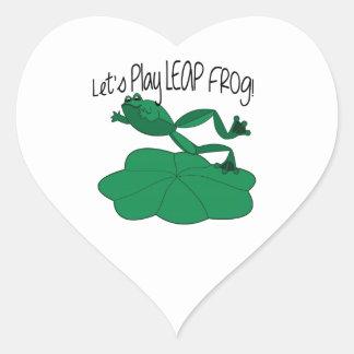 Leap Frog Heart Sticker