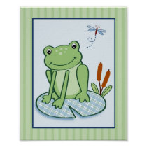 Leap Frog Turtle Nursery Wall Art Print