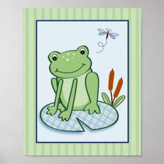 Leap Frog Turtle Nursery Wall Art Print