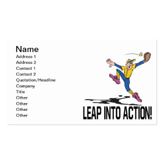 Leap Into Action Business Card