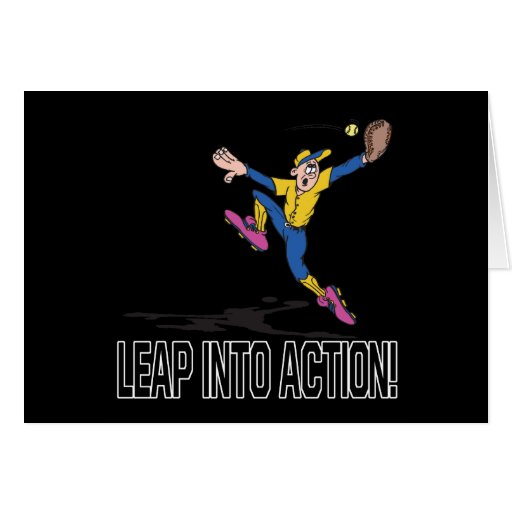 Leap Into Action Greeting Cards